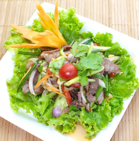 Beef Spicy salad photo