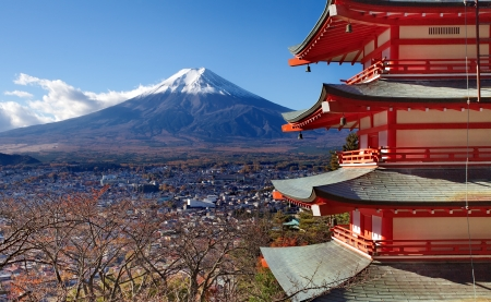 Mountain Fuji in autumn season  photo