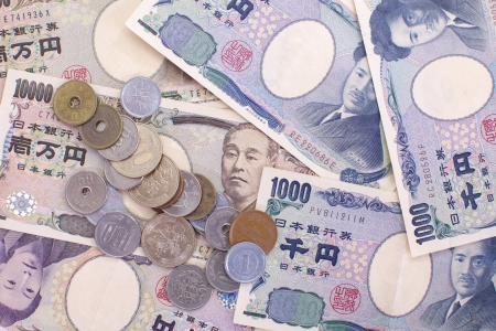 Japanese yen notes  Currency of Japan  Stock Photo