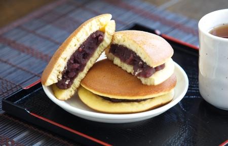 Dorayaki Japanese Traditional Pancake Dessert Stock Photo - 23950556