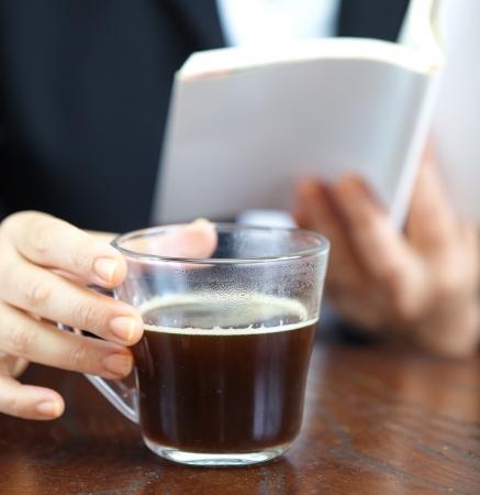 mug with hot coffee  版權商用圖片