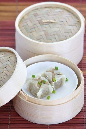 dim sum: chinese steamed dumpling Stock Photo