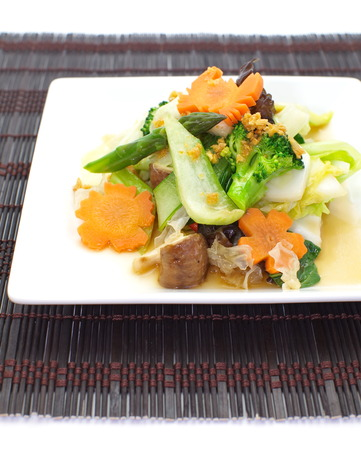stir-fried mixed vegetables  photo