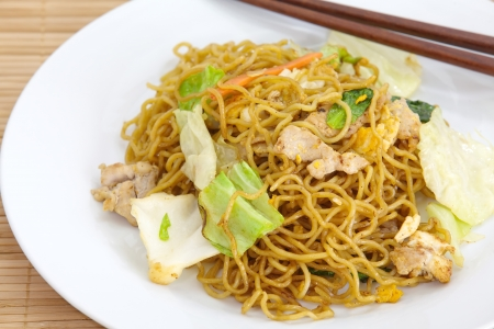 Chinese food, fried noodle  photo