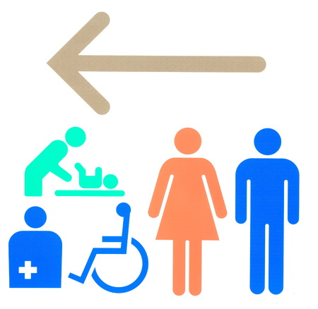 wc: Restroom-Zeichen Lizenzfreie Bilder