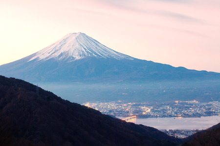 Mountain Fuji in winter  photo