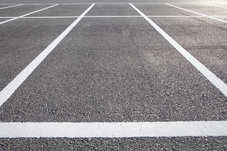 new car lots: Outdoor car park  Stock Photo