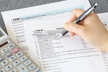U S  income tax form  photo