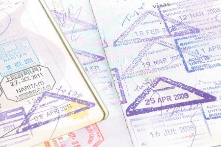 visa approved: passport stamp