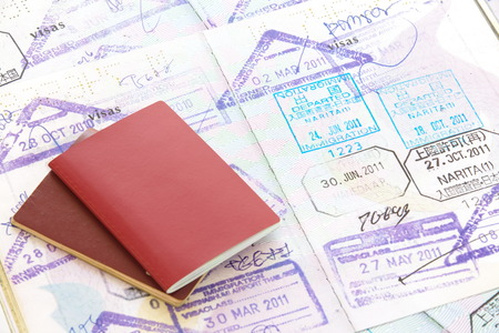 パスポートのスタンプ 写真素材