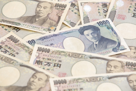 japanese currency: 1000 Japanese currency notes , Japanese Yen