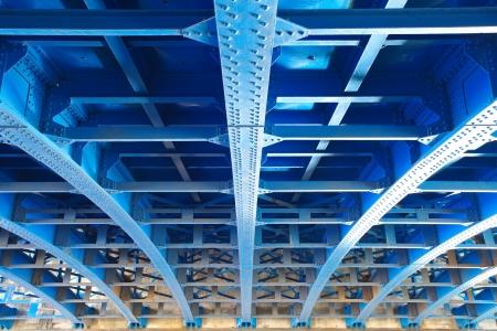 橋の下から鋼構造 写真素材