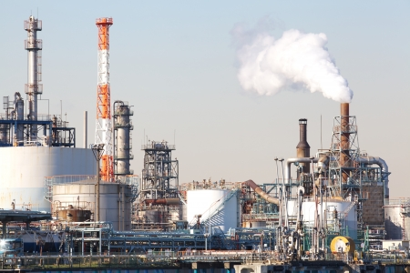 petrochemical industrial plant or oil refinery photo