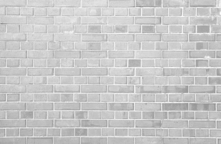 white brick wall background and texture Stock Photo