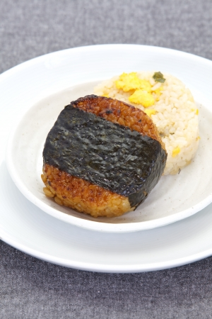 heathy: Japanese food Onigiri rice ball