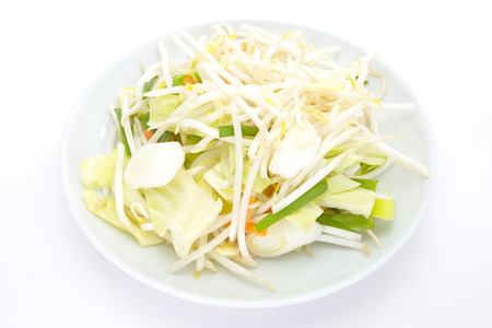 Bean Sprouts and fresh vegetable prepare for cooking Stock Photo - 25178234