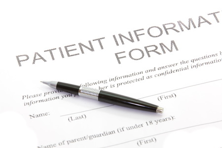 Patiënt Form Stockfoto
