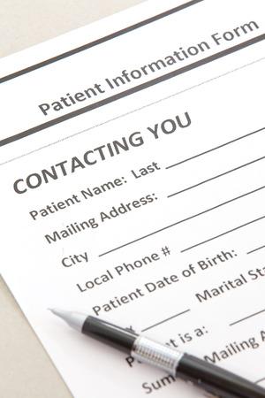 patient's history:  Patient Form