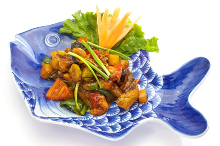 sweet and sour sauce fried with fish Stock Photo - 25177312