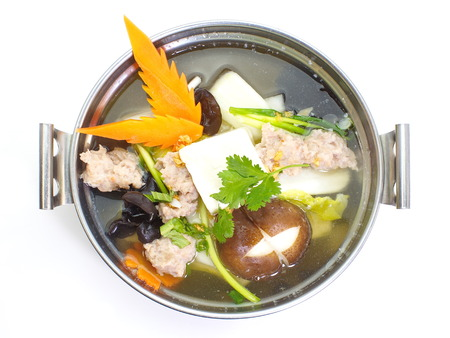 mild: mild soup with vegetable ,pork ,mushroom and bean curd