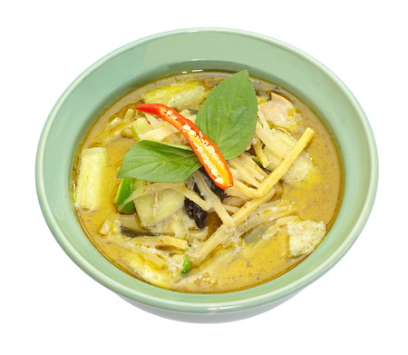 Thailand food Green curry photo