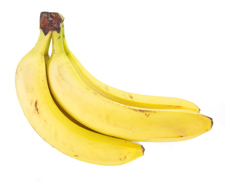 backgruond: Fresh yellow banana isolated on white backgruond Stock Photo