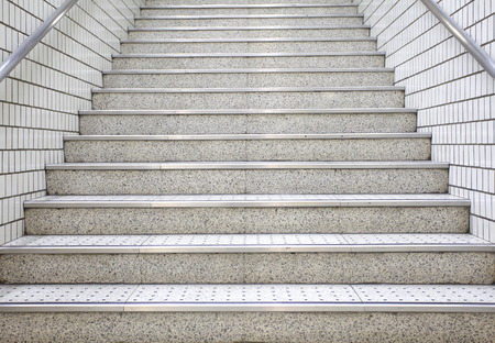 white stair concrete photo
