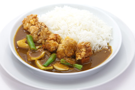 japanese cookery: Curry rice Stock Photo