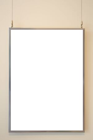 empty White board on concrete wall background photo