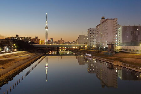 sumida: view of tokyo with Tokyo sky tree