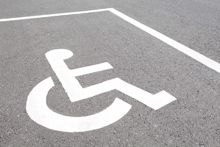 close - up Handicap parking spots photo
