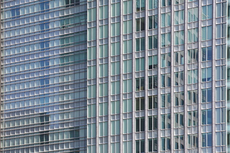 perfect blue glass high - rise corporate building Stock Photo - 26644773