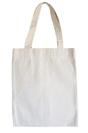 cotton eco bag isolated on white background photo
