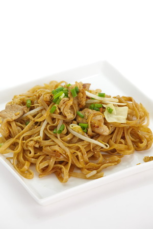 stir-fried rice noodles Pad Thai  photo