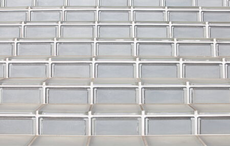 closeup glass block stairs at modern building photo