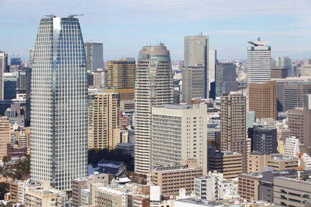 view of tokyo cityscape at central tokyo in daytime photo