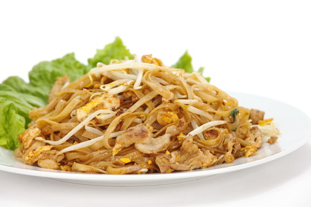 Thailand s national dishes, stir-fried rice noodles Pad Thai photo