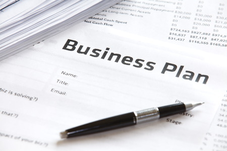 paper of Business plan strategy and Business concept  Stock Photo