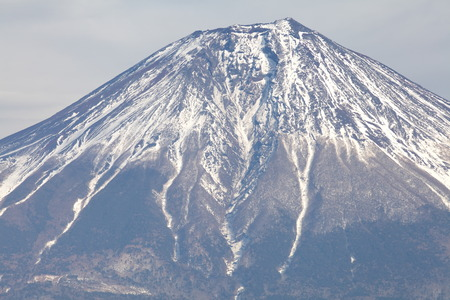 top of mountain fuji from lake tanuki , shizuoka photo