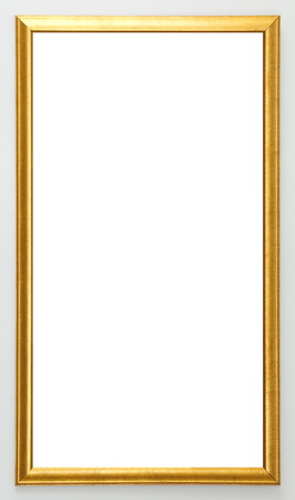 gold picture frame isolated on white background Stok Fotoğraf - 28364374