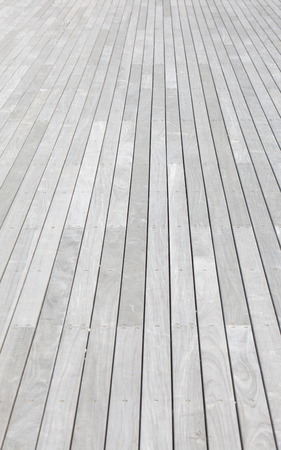 white wood floor: white wood plank floor background at terrace Stock Photo