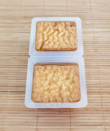 deep fried tofu bubble or bean curd tofu