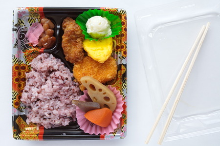 Bento , japanese ready meal takeout lunch box  photo