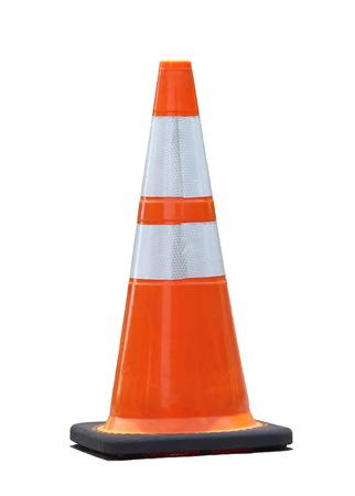 道路の建設で使用される紅白色の円錐ピン 写真素材
