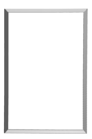 metal picture frame isolated on white