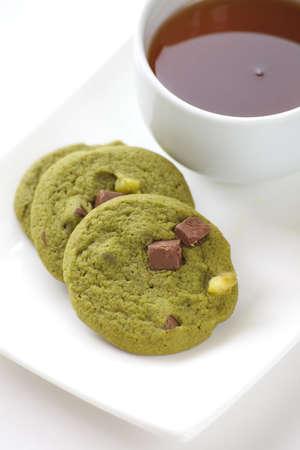 maccha: Japanese dessert and sweet Maccha green tea cookie Stock Photo