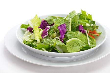 verduras verdes: Comida saludable de verduras frescas ensalada verde