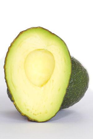 Fresh avocado isolated on a white background photo