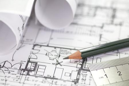 건축가 롤과 계획 건설 프로젝트 도면