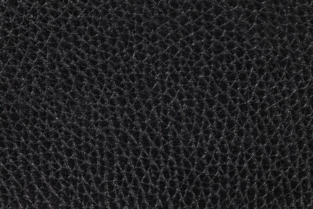 Close - up Black leather texture  photo